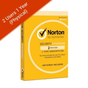 norton security standard 3.0 oem 2 users 1 yr physical