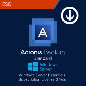 acronis backup standard windows server essentials subscription license 3 year