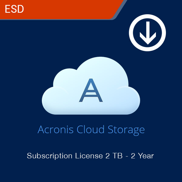 acronis cloud storage subscription license 2 tb 2 year